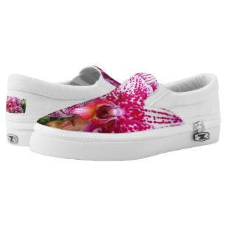 Pink Dendrobium Orchids Slip On Shoes