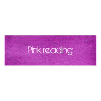pink denim business card template