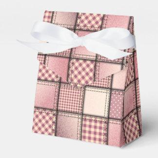 Pink Denim Swatches Tent Favor Box