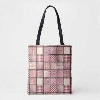Pink Denim Tote Bag