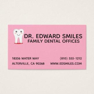 Pink Dentist Business Card - Dental Dentists Cards