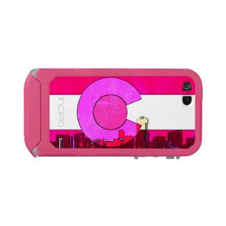 Pink Denver Colorado skyline flag phone case Incipio ATLAS ID™ iPhone 5 Case