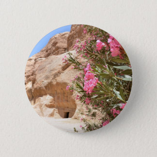 Pink Desert Flowers 6 Cm Round Badge