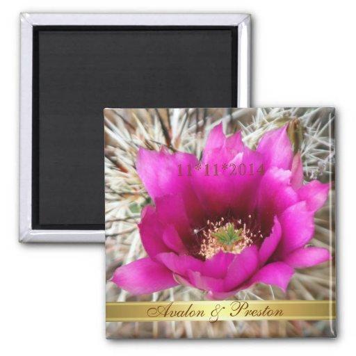 Pink Desert Rose Save The Date Magnet