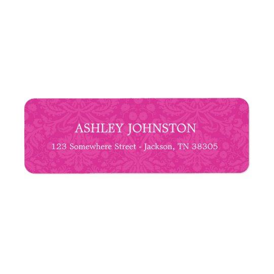 Pink Design Address Labels