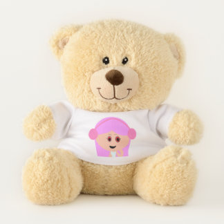 Pink Design Character Teddy Bear Stuff Toy