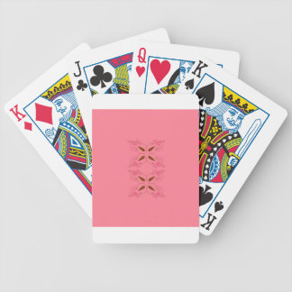 Pink design elements bicycle playing cards