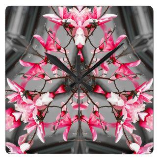 Pink Design Wall Clock