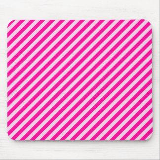 Pink Diagonal Stripes Mousepads