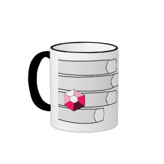 Pink Diamon see-me ring mug. Ringer Mug
