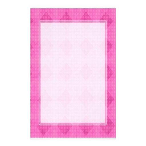 Pink Diamond Blank Stationery