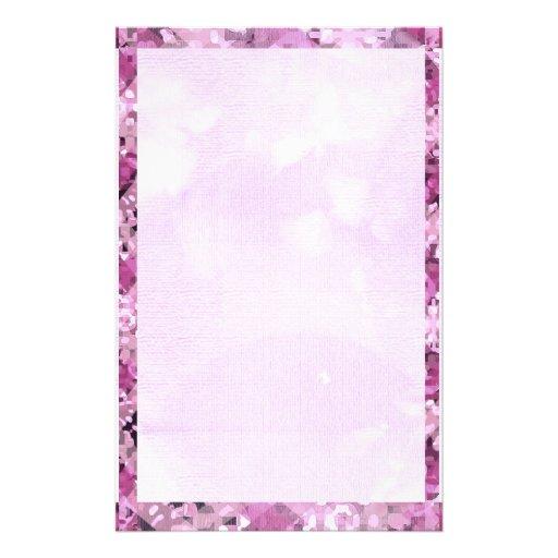 Pink Diamond Border 1 Custom Stationery