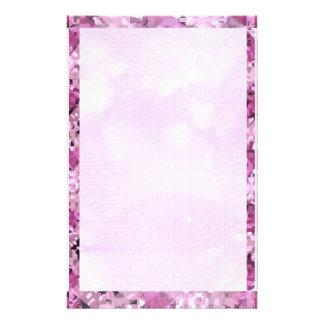Pink Diamond Border 1 Stationery Design