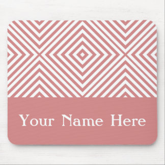 Pink Diamond Chevron with custom name Mouse Pad