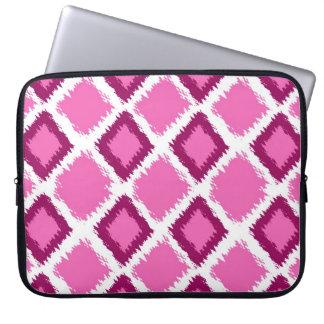 Pink Diamond Ikat Pattern Laptop Sleeve