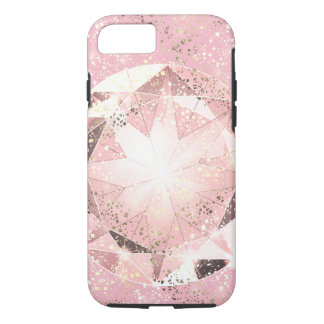 Pink Diamond on Light Pastel with Gold Sparkle iPhone 8/7 Case