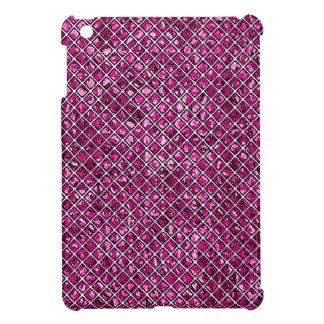 Pink Diamond Pattern Stained Glass iPad Mini Case
