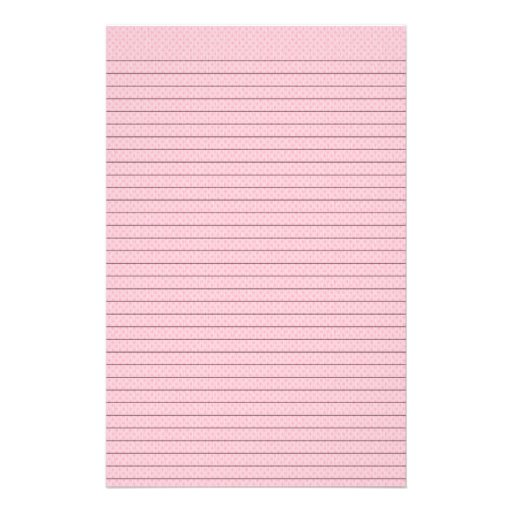 Pink diamond patterned stationery w/optional lines