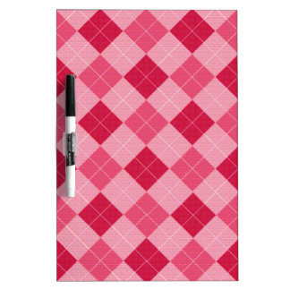 Pink Diamond Plaid Dry-Erase Boards
