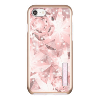 Pink Diamond Sparkle on Light Pastel Brilliant Incipio DualPro Shine iPhone 8/7 Case