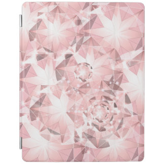 Pink Diamond Sparkle on Light Pastel Brilliant iPad Cover