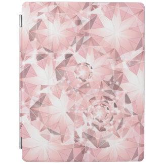 Pink Diamond Sparkle on Light Pastel Brilliant iPad Cover