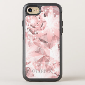 Pink Diamond Sparkle on Light Pastel Brilliant OtterBox Symmetry iPhone 8/7 Case