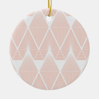 Pink diamonds ceramic ornament