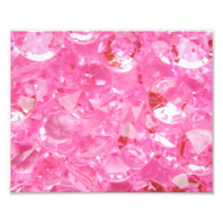 Pink Diamonds Photo Print