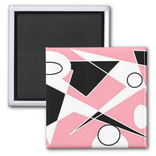 PINK DIGITAL ABSTRACT MAGNET
