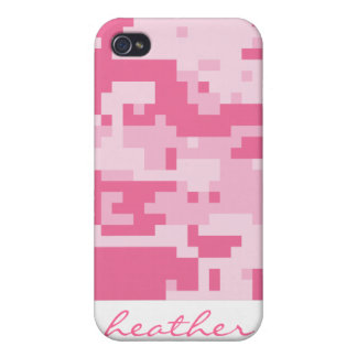 Pink Digital ACU Camoflage Pattern Cover For iPhone 4