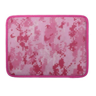 Pink Digital Camo Macbook Pro Rickshaw Flap Sleeve Sleeve For MacBooks