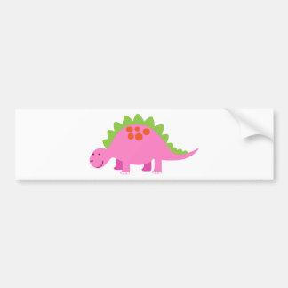 pink Dino Bumper Sticker