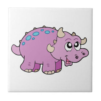 Pink Dinosaur Child's Decorative Tile