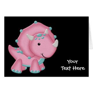 Pink Dinosaur (customizable) Greeting Card
