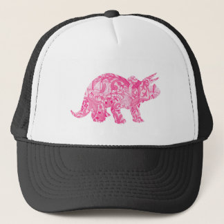 Pink dinosaur for jurassic park and ancient world trucker hat