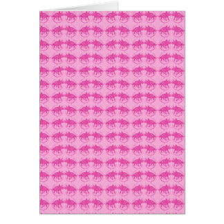 Pink Dinosaur Triceratops Print Card