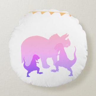 Pink Dinosaurs Round throw cushion