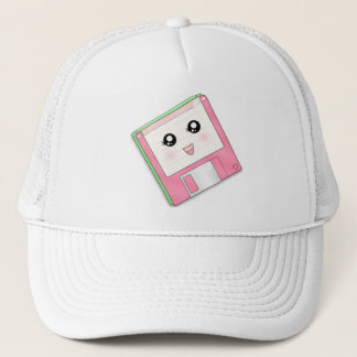 Pink Diskette Trucker Hat
