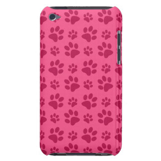 Pink dog paw print barely there iPod cover