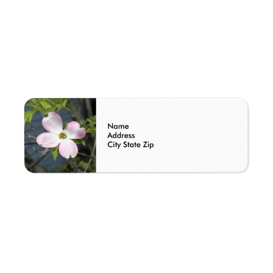 Pink Dogwood 1483 Return Address Label