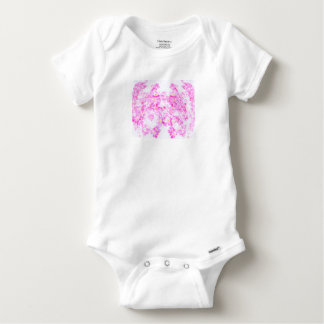 Pink Dogwood Blossom Baby Onesie
