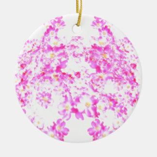 Pink Dogwood Blossom Ceramic Ornament