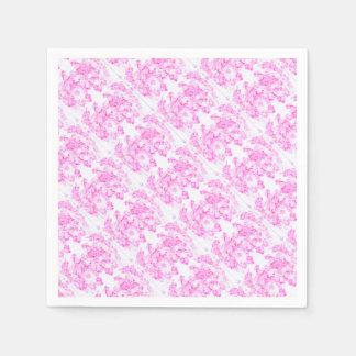 Pink Dogwood Blossom Disposable Napkins