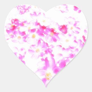 Pink Dogwood Blossom Heart Sticker