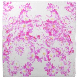 Pink Dogwood Blossom Napkin