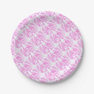 Pink Dogwood Blossom Paper Plate