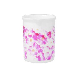 Pink Dogwood Blossom Pitcher