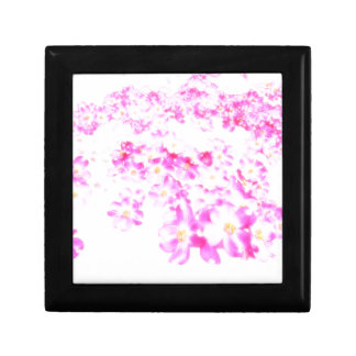 Pink Dogwood Blossom Small Square Gift Box