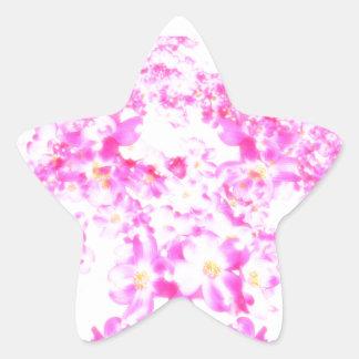 Pink Dogwood Blossom Star Sticker
